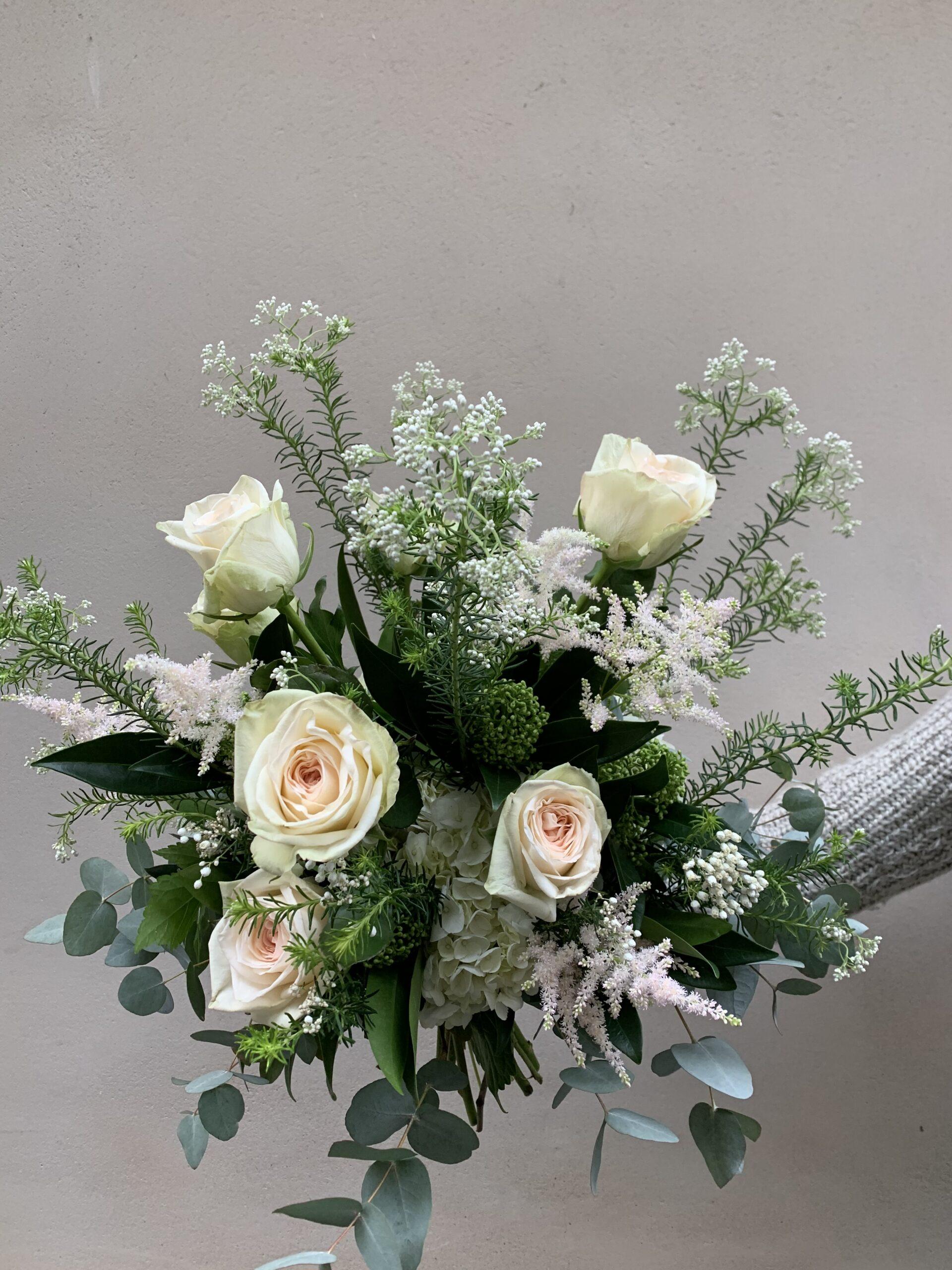 bouquet du moment romantique perle